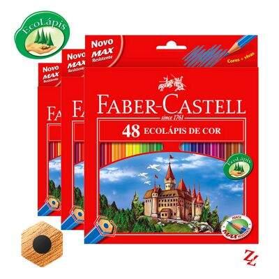 6574bc4533 Lápis de Cor Regular (48 Cores) Sextavado Faber Castell - 120148G