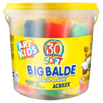 Massa de Modelar Soft (1,5 kg) Big Balde Art Kids Acrilex