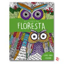 Livro de Colorir Antiestresse As Cores da Floresta