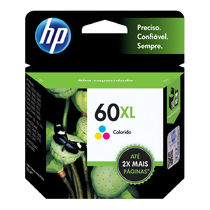Cartucho de Tinta Original HP 60XL (15,5ml) Colorido (CC644WB)