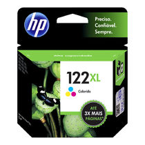 Cartucho de Tinta Original HP 122XL (7,5ml) Colorido (CH564HB)