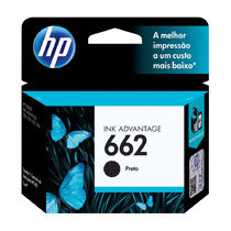 Cartucho de Tinta Original HP 662 (2ml) Preto (CZ103AB)