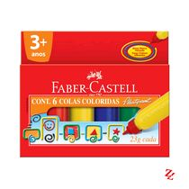 Cola Colorida 06 Cores 23g Faber Castell