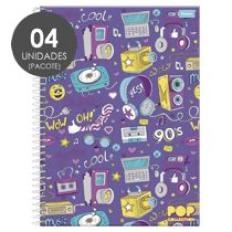 Caderno Espiral Universitário Capa Dura 10 Matérias (200 Folhas) Pop Collection Foroni
