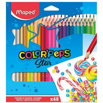 Lápis de Cor Color'Peps Classic (48 Cores) Triangular Maped
