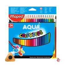 Lápis de Cor Aquarelável Color'Peps Aqua (24 Cores) Triangular Maped