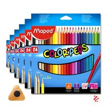 Lápis de Cor Color'Peps Classic (24 Cores) Triangular Maped