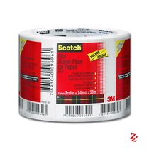 Fita Adesiva Dupla Face de Papel Scotch 3M (24 mm x 30 m)