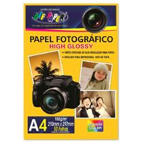 Papel Fotográfico Glossy 180g A4 (210 x 297 mm) Off Paper