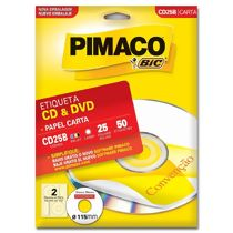 Etiqueta Adesiva Pimaco Carta CD & DVD CD25B (115 mm) c/50