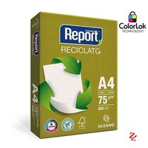 Papel Sulfite A4 (210 x 297 mm) 75g/m² Report Reciclato 500 Folhas