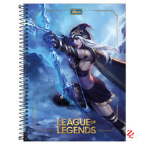 Caderno Espiral Universitário Capa Dura 1 Matéria (80 Folhas) League of Legends Tilibra